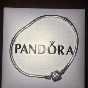 Pandora Signature Clasp Bracelet Sterling Silver